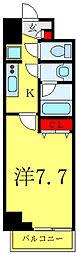 JR埼京線 板橋駅 徒歩5分の賃貸マンション 7階1Kの間取り