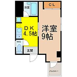 エスプリ千代田[5階]の間取り