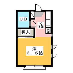 愛知県名古屋市千種区唐山町1丁目の賃貸アパートの間取り