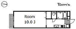 プラムハイツ[103号室]の間取り