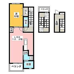メゾンサカエ[3階]の間取り