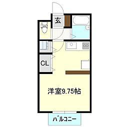 セゾンクラブII[2階]の間取り