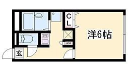 レオパレスObuRyusei 1階1Kの間取り
