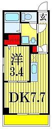 金太郎ヒルズ204[1階]の間取り