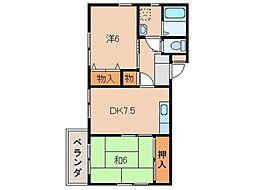 サンライフ阪本I[2階]の間取り