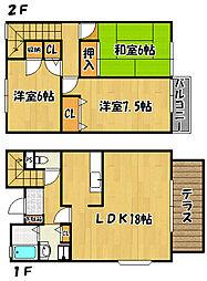 [タウンハウス] 兵庫県神戸市西区伊川谷町長坂 の賃貸【/】の間取り