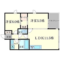 Casa Bonita[4階]の間取り