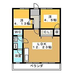 メトロポリス3号館[2階]の間取り