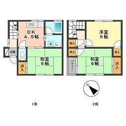東京都葛飾区細田3丁目の賃貸アパートの間取り