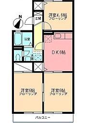 キャッスルアマノ[203号室]の間取り