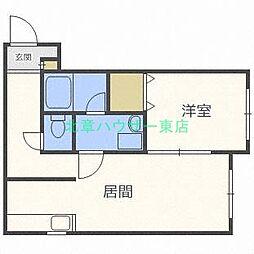 北海道札幌市東区北三十一条東1丁目の賃貸アパートの間取り