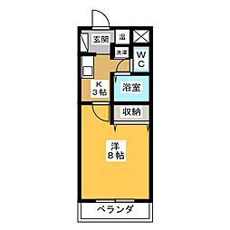 シフォン・ド・ヒロ[2階]の間取り