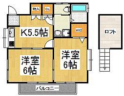 児玉ハイツI[2階]の間取り