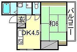 ビージョイマンション1号館[200 号室号室]の間取り