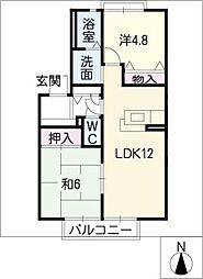 クレールロジュマン A棟[1階]の間取り