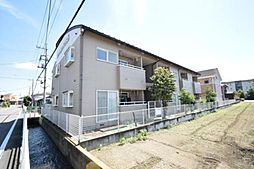 群馬県高崎市大沢町の賃貸アパートの外観