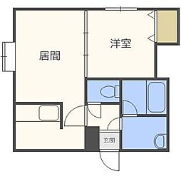 LEE  SPACE新通東[2階]の間取り