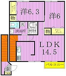 ファインアベニュー[2階]の間取り