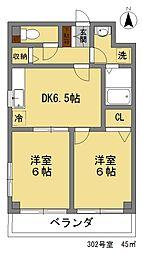 サリジェ21[302号室]の間取り
