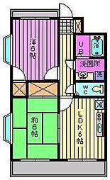 ビュープラザ斎藤III[303号室]の間取り