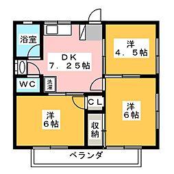 レジデンス山口B棟[1階]の間取り