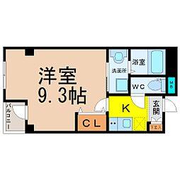 愛知県名古屋市中区橘1の賃貸マンションの間取り
