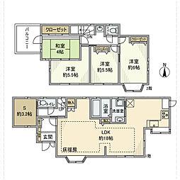 [一戸建] 神奈川県厚木市山際 の賃貸【/】の間取り