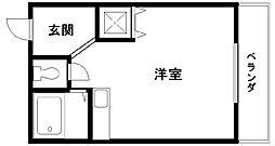 ブランシャトー久米田[205号室]の間取り
