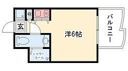 インターフェルティーR2甲子園[305号室]の間取り