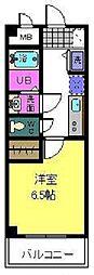 大阪府八尾市志紀町2丁目の賃貸マンションの間取り