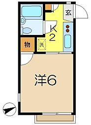 柿ノ木ヴィレッヂ3番館[2階]の間取り
