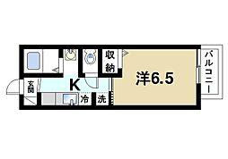 近鉄奈良線 近鉄奈良駅 バス11分 護国神社下車 徒歩4分の賃貸アパート 1階1Kの間取り