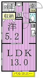 カーサフェリーチェ(鎌ヶ谷[2階]の間取り