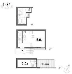 東京都中野区野方1丁目の賃貸マンションの間取り