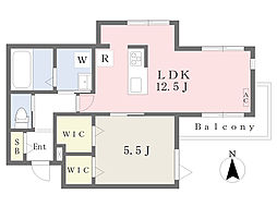 JR南武線 宿河原駅 徒歩11分の賃貸マンション 4階1LDKの間取り