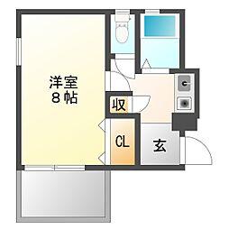 ヨネナガハイツIII[1階]の間取り