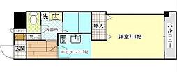 神奈川県横須賀市鷹取1丁目の賃貸マンションの間取り