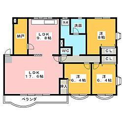 八雲マンション D棟[1階]の間取り
