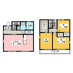 [一戸建] 愛知県名古屋市昭和区御器所3丁目 の賃貸【/】の間取り