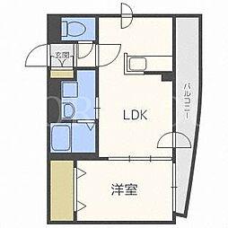 エリカーナ東札幌[4階]の間取り