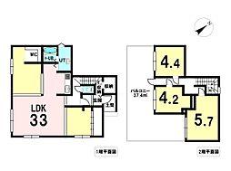 花川北5条1丁目 戸建 3LDKの間取り