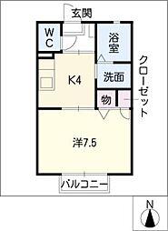 アクアマリン−K[2階]の間取り