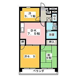 志水ビル[6階]の間取り