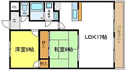ダイコーロイヤル 3階2LDKの間取り