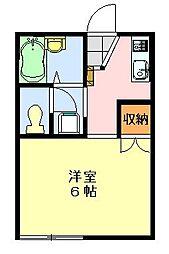 シャトレーヤハギ[205号室]の間取り