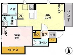 JR中央線 三鷹駅 徒歩10分の賃貸アパート 1階1LDKの間取り