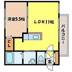 北海道札幌市東区北十六条東3丁目の賃貸マンションの間取り
