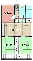 中原スカイM 405[4階]の間取り