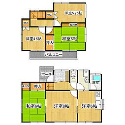 [一戸建] 茨城県つくば市下広岡 の賃貸【/】の間取り