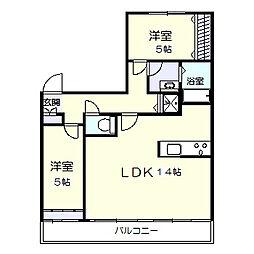 サンヴェール松戸六高台[6階]の間取り